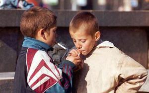 UKRAINE CHILDREN SMOKERS