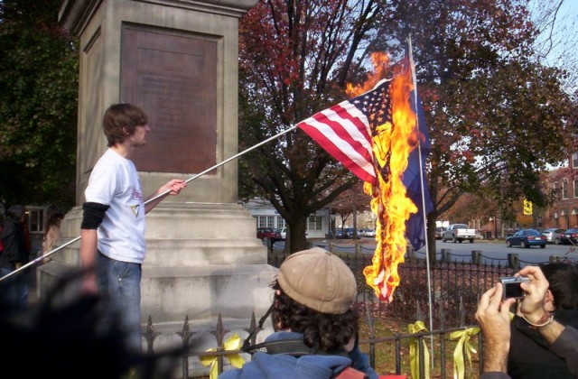 American-flag-burning