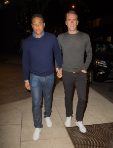 Don Lemon holds hands with a mystery man outside TAO Restaurant