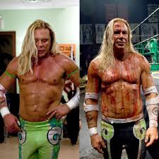Pic from the Wrestler. Mickey Rourke wore dozens of prosthetics ...