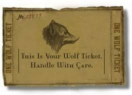 Quit selling Wolf Tickets | The Goomba Gazette