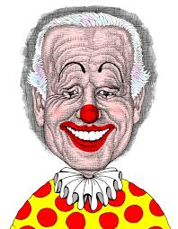 Joe Biden the clown caricature, color caricature drawing of Joe ...