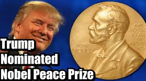 Trump nominated for Nobel Peace Prize after Israel-UAE peace deal - YouTube