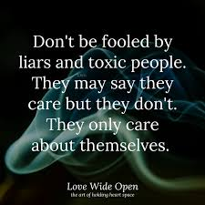 Love Wide Open - They only care about themselves. | Facebook