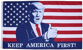 Amazon.com : Homissor Donald Trump for President Flag 3x5 Ft- Keep America  First Flag Banner for Outdoor Indoor- Trump Thumbs Up Throw : Garden &  Outdoor