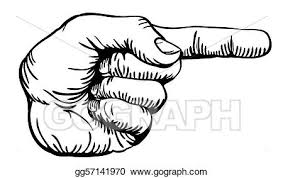 Vector Stock - Pointing the finger. Stock Clip Art gg57141970 - GoGraph