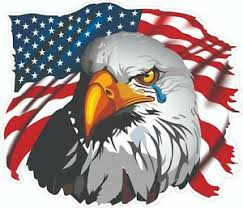 """American Flag Eagle Crying Decal 5"""" Free Shipping 