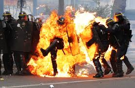 Policeman on Fire: The Story Behind the Viral Photograph | Time