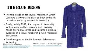 Image result for the infamous blue spotted dress Lewinsky
