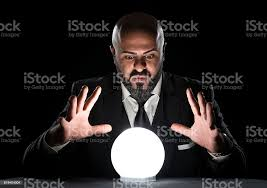 Mysterious Fortune Teller Looking At Crystal Ball Stock Photo - Download  Image Now - iStock